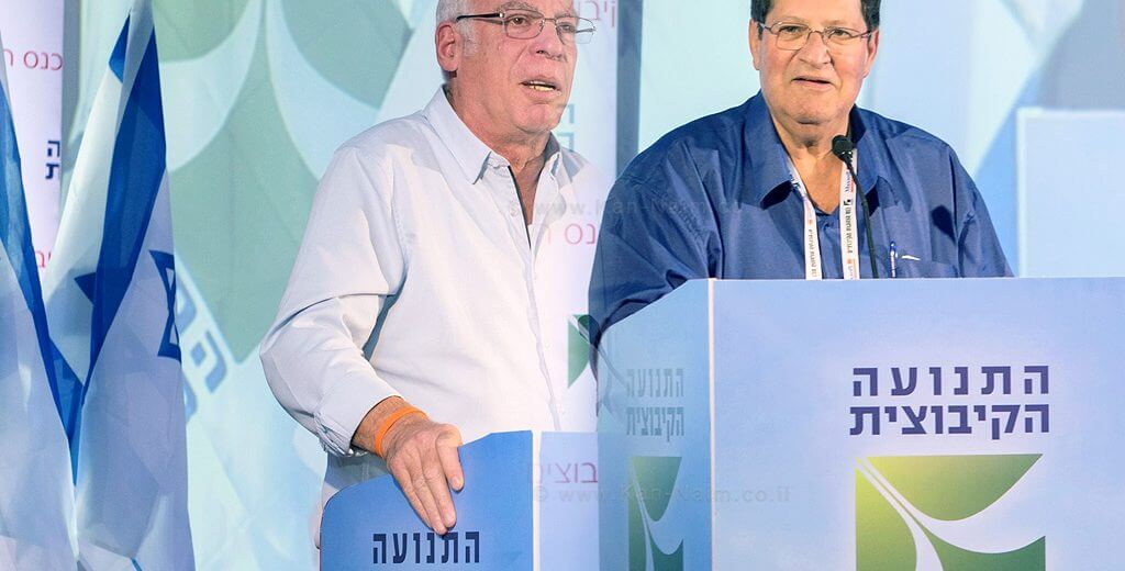 ניר מאיר המזכיר כללי של התנועה הקיבוצית עם שר החקלאות חבר כנסת אורי אריאל פועלים נגד הגניבות החקלאיות | עיבוד צילום: שולי סונגו ©