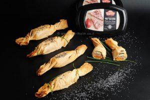 מתכון סוכריות פילו ממולאות מוס כבד עוף בטטה וביצה של מעדני יחיעם |עיבוד צילום: שולי סונגו ©