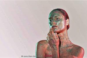 'תערוכת Textures' צילומי איפור משותפת לירין שחף והילה אלקיים   עיבוד צילום: שולי סונגו ©
