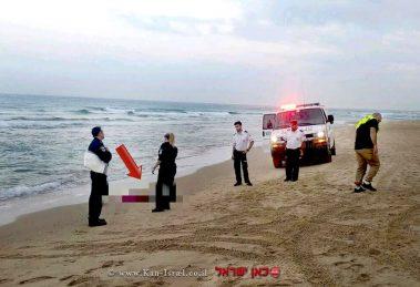 אישה כבת 40טבעה למוות ביםדרומית ל'חוף ארגמן' בנתניה   צילום: דוברות מדא   עיבוד צילום: שולי סונגו ©