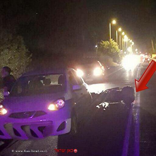 רוכב אופנוע בן 70 נהרג מפגיעת רכב בכביש בין קיבוץ שניר לקיבוץ דפנה| צילום: תיעוד מבצעי מדא