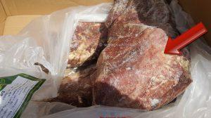 למעלה מ-2 ו-חצי טון בשר בקר שהושמד בחולון מכיוון שלא היה ראוי למאכל אדם |צילום: עיריית חולון