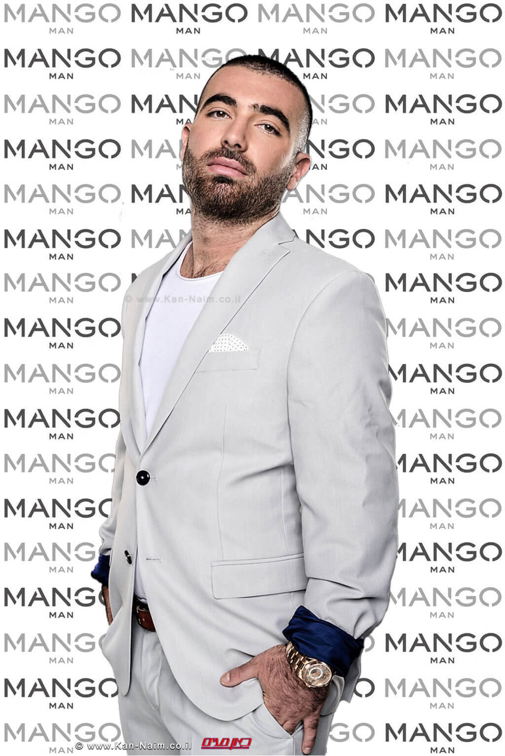 עומר אדם נבחר פרזנטור מותג הגברים Fashion MANGO Man Israel  צילום: משה נחמוביץ עיבוד צילום: שולי סונגו ©