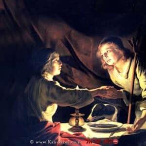 עשיו מוכר ליעקב את הבכורה בתמורה ל'נזיד עדשים' | ציור של מתיאס שטום (1640) | ויקיפדיה