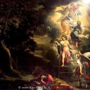 סולם יעקב על הסולם עם מלאכים ציור מאת ברטולומיאו אסטבן מורילו |עיבוד צילום: שולי סונגו ©