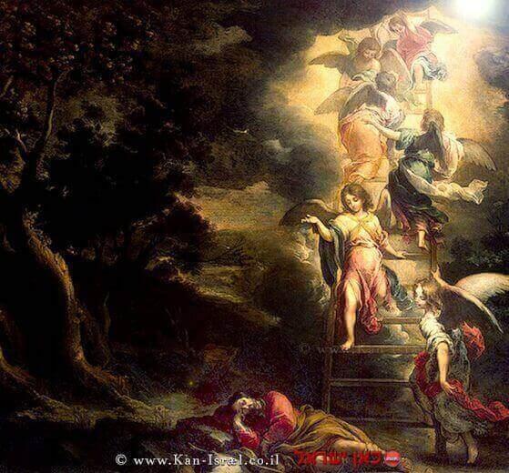 סולם יעקב על הסולם עם מלאכים ציור מאת ברטולומיאו אסטבן מורילו  עיבוד צילום: שולי סונגו ©