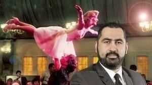 עורך דין חיים פרנק ברקע סצינה מהסרט ריקוד מושחת | צילום: בני מנשרוב |עיבוד צילום: שולי סונגו ©