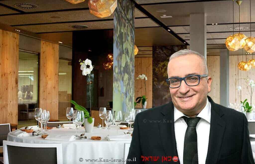 מוני עזורה, רקע: מסעדת עזורמנדי - Azurmendi בספרד | עיבוד צילום: שולי סונגו ©