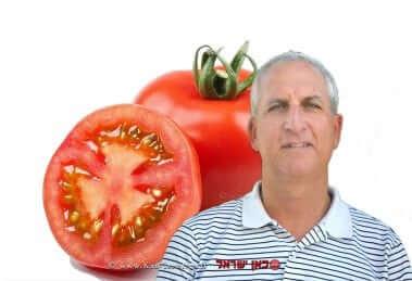 רמי דר, מנכל חברת הזרע   רקע: עגבניית מגי  צילום נילי שניר  עיבוד צילום: שולי סונגו ©