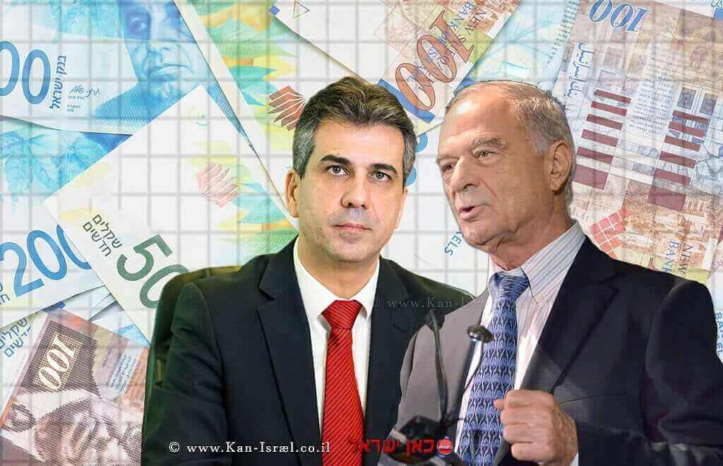 אוריאל לין נשיא איגוד לשכות המסחר נגד אלי כהן שר הכלכלה |עיבוד צילום: שולי סונגו ©