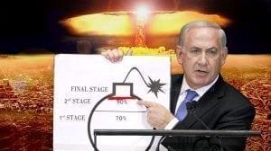 מי מפחד מהפצצה האיראנית ראש הממשלה בנימין נתניהו מדגים את הסכנה מאיראן |עיבוד צילום: שולי סונגו ©