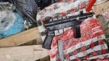 קרלו תת מקלע מאולתרשנתפס בגַ'לְג'וּלְיָה|צילום: דוברות המשטרה