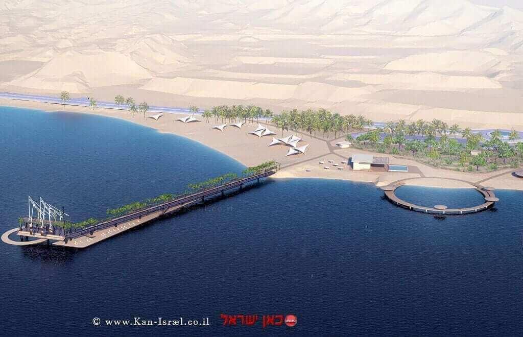 חוף אקולוגי אילת מזח מספר 1 - הדמיה של עיריית אילת