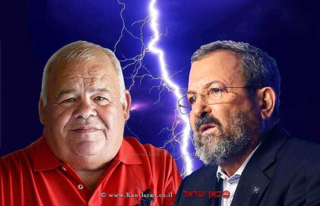 אהוד ברק מולפרוספר אזרן ברקע:ברק | עיבוד: שולי סונגו ©