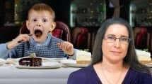 עינת ששון, הדיאטנית הראשית של צנטרום על רקע ילד זולל עוגות