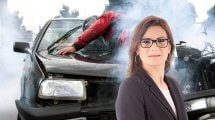 עורכת דין קרן זיסו   רקע: תאונה עם אופנוען   עיבוד: שולי סונגו ©