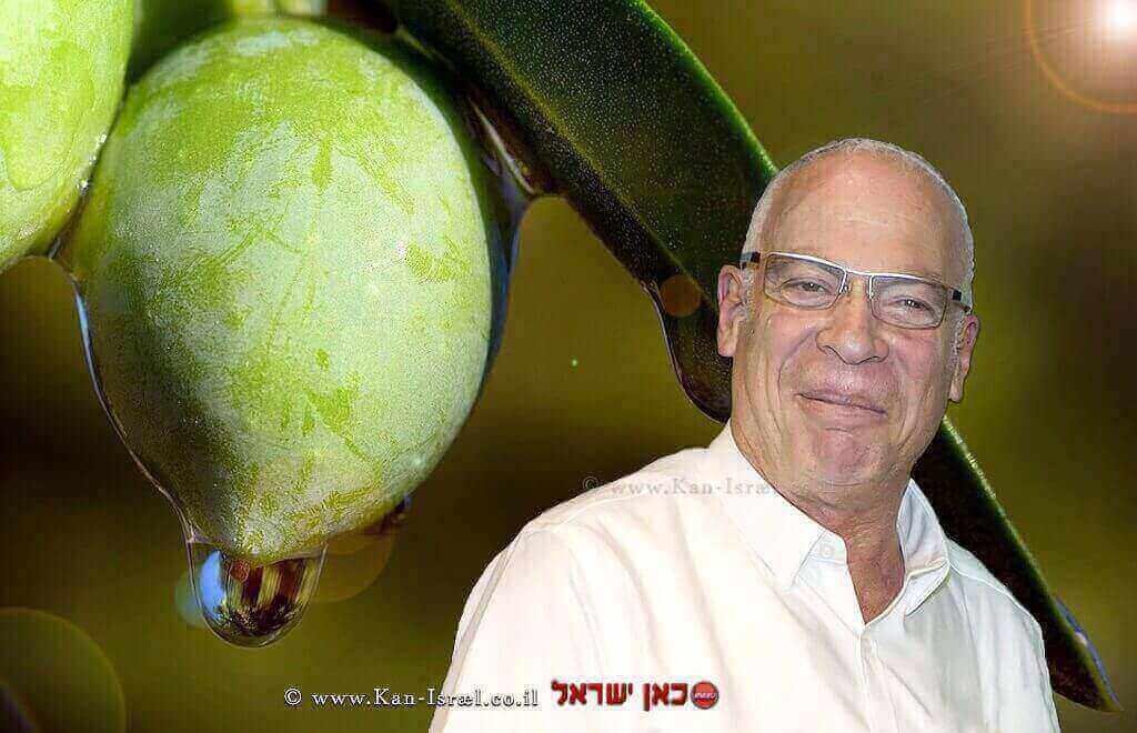 שר החקלאות מר אורי אריאל | רקע: שמן זית | עיבוד: שולי סונגו©