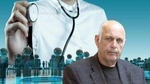 שמוליק בן יעקב, יושב ראש האגודה לזכויות החולה |רקע: רופא עם סטטוסקופ