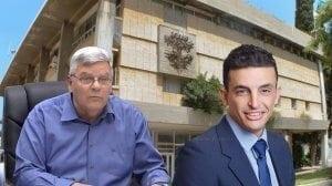 חבר מועצת עיריית חדרה עורך דין אוהד מרחב אל ראש העיר חדרה צבי גנדלמן אתה מושחת