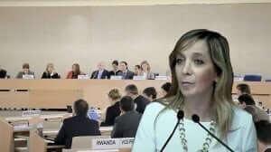 אמי פלמור מנכלית משרד המשפטים ויושבת ראש המשלחת הישראלית למועצת האומות המאוחדות לזכויות אדם בז'נבה