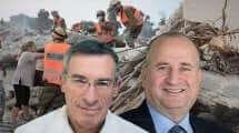 מנכל משרד המדע מר פרץ וזאן עם ראש הרשות הלאומית לחירום מר בצלאל טרייבר