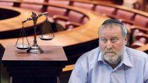 היועץ המשפטי לממשלה, דר' אביחי מנדלבליט ברקע: מאזני הצדק בבית המשפט