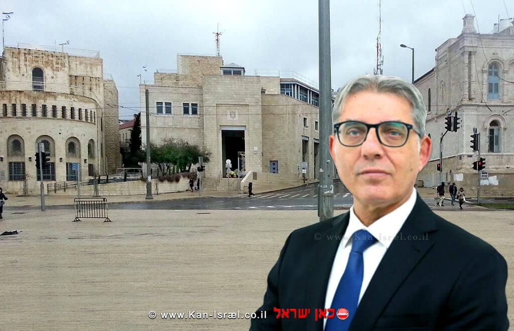 מאיר תורג'מן, סגן ראש העיר ירושלים | רקע: כיכר צהל בירושלים בירושלים
