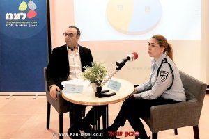 דוברת המשטרה, ניצב משנה מירב לפידות עם מנהל לשכת העיתונות הממשלתית העיתונאי מר ניצן חן