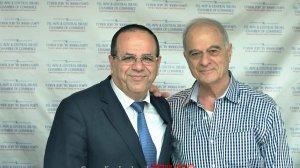 נשיא איגוד לשכות המסחר עורך דין אוריאל לין עם שר התקשורת מר איוב קרא