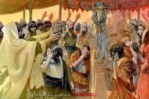 בני ישראל סוגדים לעגל הזהב | ציור: ג'יימס טיסו
