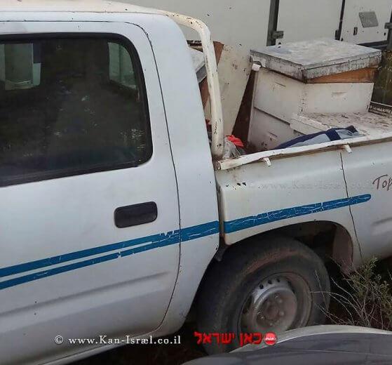 כוורות שנגנבו ונתפסו על ידי שוטרי משמר הגבול