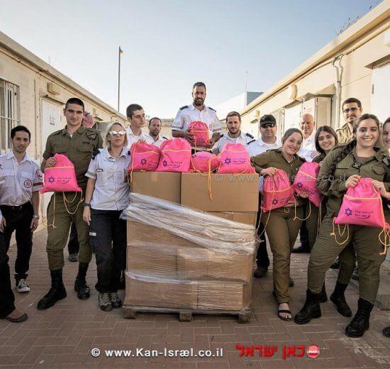 מתנדבי מדא מחלקים חבילות ממתקים לחיילי צהל