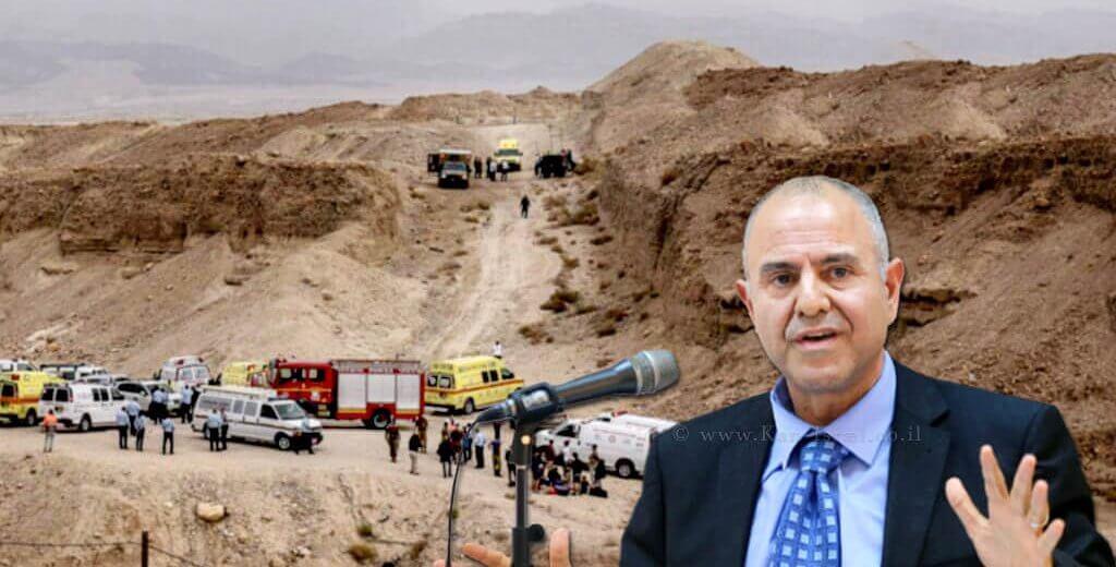 מנכל משרד החינוך, שמואל אבואב, ברקע: אסון נחל צפית
