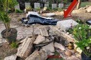 בית העלמין כנרת - נזק לקברי הטייסים עקב הסופה   צילום: דוברות מועצה האזורית עמק הירדן