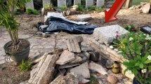 בית העלמין כנרת - נזק לקברי הטייסים עקב הסופה | צילום: דוברות מועצה האזורית עמק הירדן