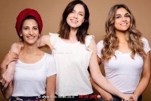 מימין: קוואדרי, הדוגמנית רונית יודקביץ, מרנץ'