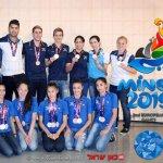 לוגו המשחקים האירופיים מינסק 2019 והמדליסטים בבאקו 2015