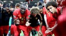 שחקני נבחרת בלגיה לאחר המהפך מול נבחרת יפן 2:3