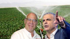 שר האוצר משה כחלון, עם שר החקלאות אורי אריאל