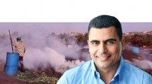 אריק מויאל מועמד לרשות חריש ברקע מפחמות של הרשות הפלסטינית | עיבוד צילום: שולי סונגו