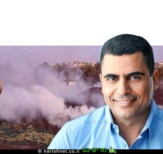 אריק מויאל מועמד לרשות חריש ברקע מפחמות של הרשות הפלסטינית   עיבוד צילום: שולי סונגו