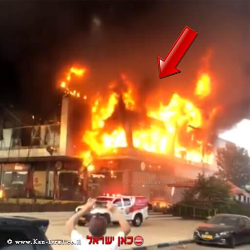 מתחם מיקס חדרה עולה באש