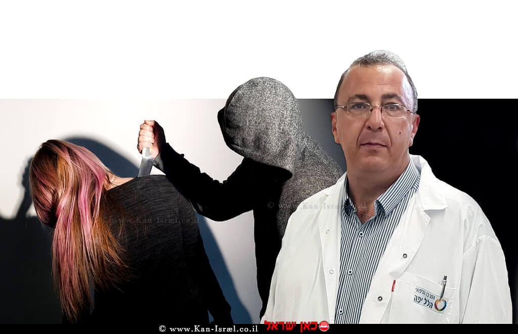 פרופ' בוריס קסל, מנהל המערך הכירורגי של המרכז הרפואי הלל יפה | רקע: גבר דוקר אישה | עיבוד צילום: שולי סונגו
