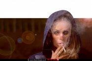 אישה מכורה לעישון   כל שעה מת אדם מעישון  עיבוד צילום: שולי סונגו