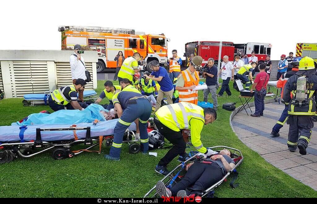 מדא בתרגיל אירוע רב נפגעים - צילום דוברות מדא | עיבוד צילום: שולי סונגו