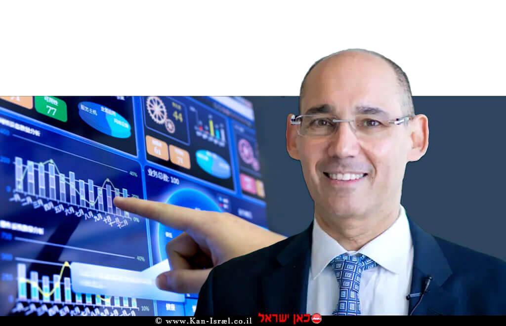 פרופ' אמיר ירון נגיד בנק ישראל | ברקע: תוצאות חטיבת המחקר של הבנק | אילוסטרציה | עיבוד צילום: שולי סונגו