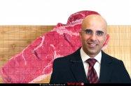 דני טל מנהל מינהל היבוא במשרד הכלכלה והתעשייה ברקע מכסת בשר טרי ביבוא פטור ממכס| צילום: יוסי זמיר | עיבוד צילום: שולי סונגו
