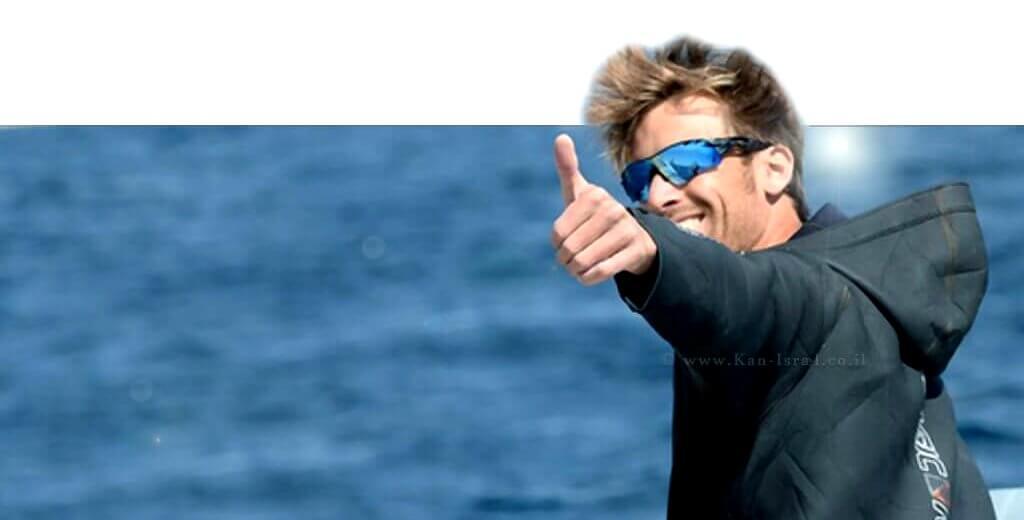 נמרוד משיח גולש הרוח והמאמן אלוף ישראל לשעבר פורש אחרי כ-20 שנים של גלישה תחרותית | צילום: הוועד האולימפי בישראל | עיבוד צילום: שולי סונגו