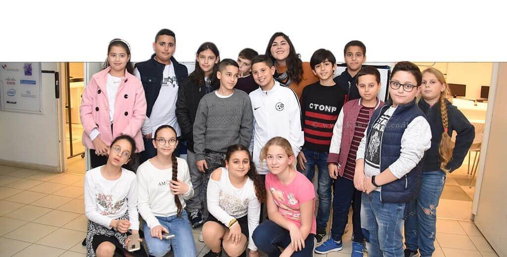 """התלמידים מכיתה ה' ועד יב' המשתתפים פרויקט נטע במתנ""""ס בית היימן בעיר עכו   צילום דוברות עכו   עיבוד צילום: שולי סונגו"""