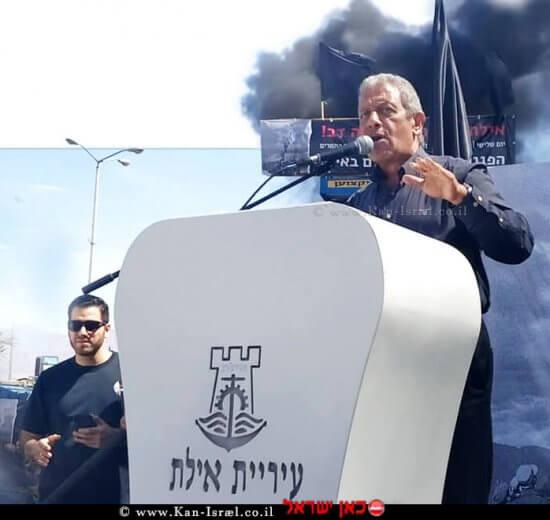 ראש עיריית אילת מר מאיר יצחק-הלוי, פותח בשביתת רעב כנגד ההחלטה לסגור את שדה התעופה שדה דב | עיבוד צילום: שולי סונגו